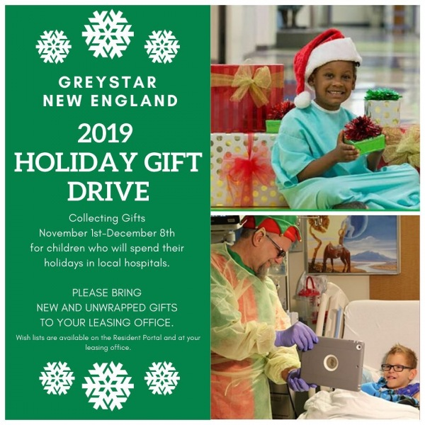 Reminder! We're still collecting donations for our 2019 Holiday Gift Drive until December 8th.